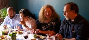 Left to Right: Yavar Moghimi, Nancy Clark, Shirley Gassner and her partner Photo Credit: John Onate