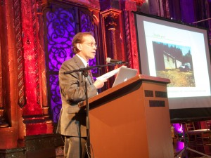 Outgoing President Jim Boehnlein presents on the Torture Treatment Center of Oregon Photo Credit: John Onate