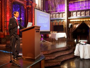 Keynote speaker Dilip Jeste talks about Aging and Wisdom across  Photo Credit: John Onate